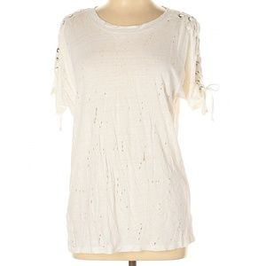 Olivaceous Ivory Short Sleeve Top